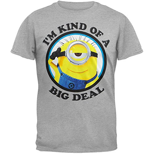 Despicable me Minion Big Deal Men's Heather Grey T-shirt