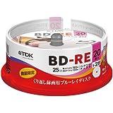TDK 録画用ブルーレイディスク BD-RE 繰り返し録画用 25GB 1-2倍速 フレームライン/タイトルライン付きディスク 20枚スピンドル BEV25FLA20PUD