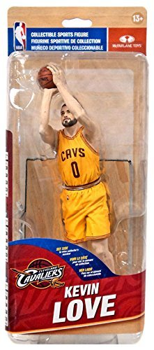 McFarlane Toys NBA Cleveland Cavaliers Sports Picks Series 28 Kevin Love Action Figure [Yellow Jersey] by NBA
