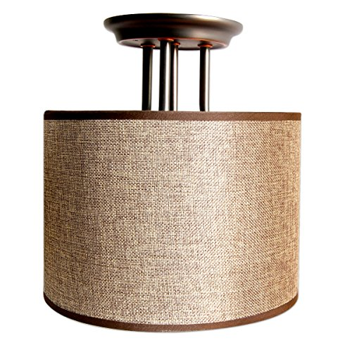 dream lighting 12v fabric light fixturedecorative lights vintage dining lights with brown burlap cylindrical ceiling light shade 074a 9w brown fabric lighting