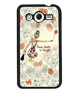 Fuson Flower Pattern Girl Back Case Cover for SAMSUNG GALAXY CORE 2 - D3830