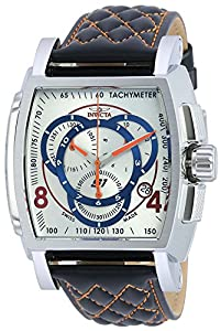 Invicta Mens 48mm S1 Rally Swiss Made Quartz Chronograph Quilted Leather Strap Watch