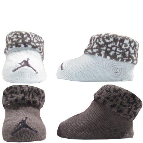 Nike Jordan Newborn Baby Booties (0-6M) Silver, 0-6 Month
