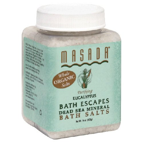 Masada Bath Escapes Bath Salts, Eucalyptus, 1 Lb.