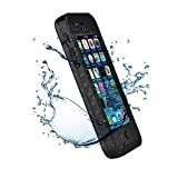 Iphone 5C IPX68 Waterproof Case Cover,Nika shop Series Untra Full Body Armor Heavy Duty hockproof Dustproof Sweatproof, Dirtproof Snowproof Snow Proof Durable Protective Hard Shell Cover Case With Built-In Ultra Clear Screen Protector For iphone 5C Verizon, AT&T Sprint, T-mobile, Unlocked - Retail Packaging (Nika shop-Black)
