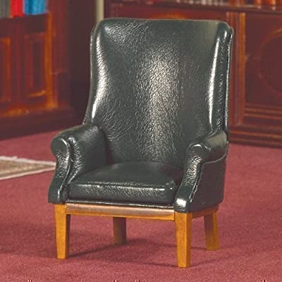 The Dolls House Emporium Green 'Leather' Porter's Chair