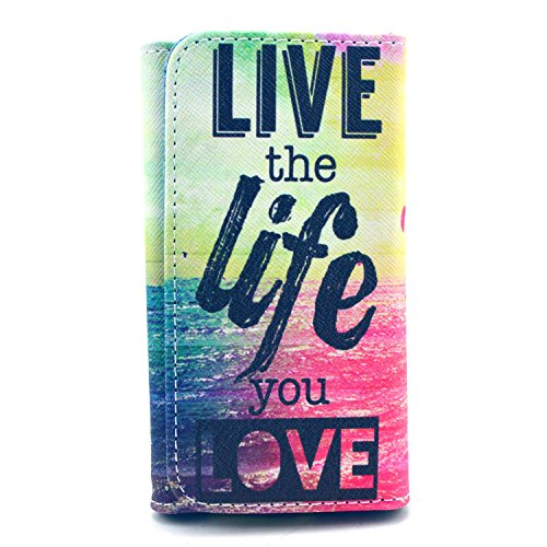 iPhone 5S Case - Jcmax Cute Foldable Flip PU Leather Wallet Case For iPhone 5S - Premium Leather Purse Case to Keep the Smart Phone Credit Card and Cash For Apple iPhone 5S 5G