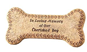 Napco In Loving Memory Dog Bone Plaque, 12-Inch Long from Napco