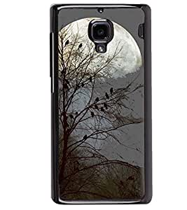 Printvisa Haunted Birds On A Tree In Moonlight Back Case Cover for Xiaomi Redmi 1S::Xiaomi Redmi (1st Gen)