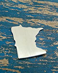 Bro Blanks Aluminum Minnesota Stamping Blanks - PUNCHED aluminum - Qty 5 - 14 Gauge - Polished