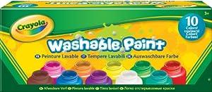 Crayola - 54-1205-e-000 - Kit De Loisirs Créatifs - 10 Pots De Peinture - Lavable