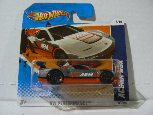 Hot Wheels HW Performance 1/10 Acura NSX Silver and Red on Short Card - 1