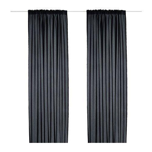 ikea gardinen mit kr uselband. Black Bedroom Furniture Sets. Home Design Ideas