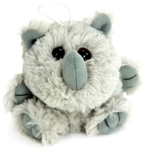 "Purr-Fection Roy Cushy Critter Rhino 5"" Plush"