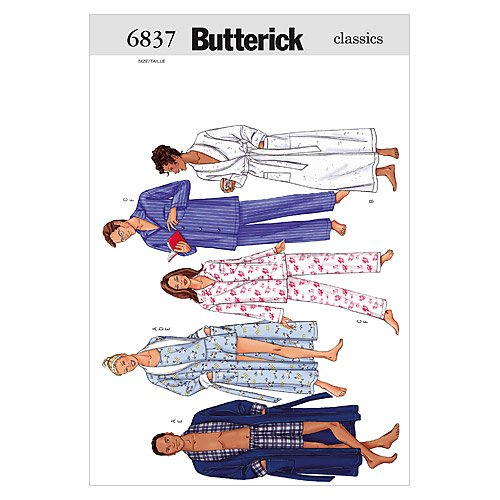 Unisex Robe, Belt, Top, Shorts & Pants - L - XL Pattern