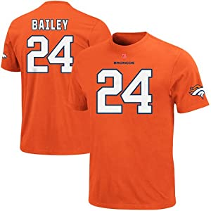 Champ Bailey Denver Broncos Eligible Receiver T-Shirt by Majestic by Nutmeg
