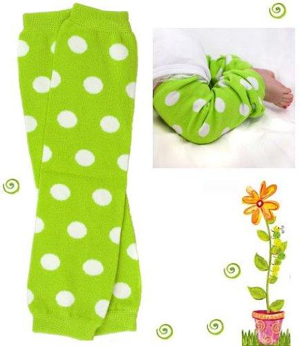#2 bright green Polka Dot baby girl & boy leg warmers by My Little Legs