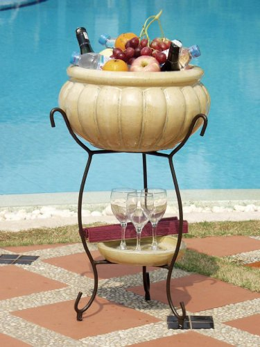 Alfresco Home Scanellato Beverage Cooler, Antique Cream