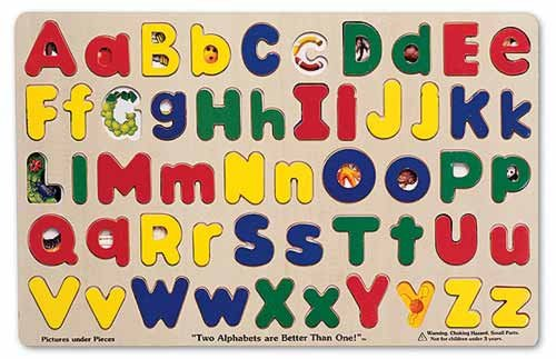 Cheap Melissa & Doug Upper & Lower Case Alphabet Puzzle (B003BM5FZY)