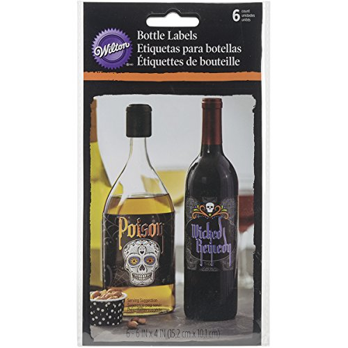 Wilton 1210-1053 Deadly Soiree Bottle Labels, Assorted (Baking Soda Bar compare prices)