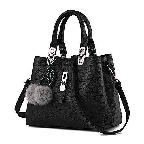 Mn Sue Stylish Women Pu Leather Vertical Utility Top Handle Handbag Business  Briefcase Office Lady Purse ( 1f02fb41f6