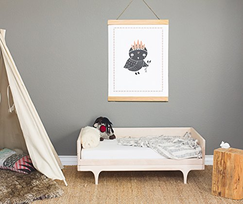 Boho Owl 18x24 Print, Woodland Animals Wall Art, Forest Nursery Decor, Wall Art for Kids, Children's Wall Art, Woodland Nursery, Nature Themed Nursery, Gender Neutral Nursery, Baby Room Décor, Owl Decor