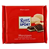 German Ritter Sport Chocolate Marzipan - 5 x 100 g