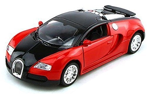 NuoYa001 Top Gift 1:36 Bugatti Veyron Diecast Car Model Collection with Sound&Light Red - 1
