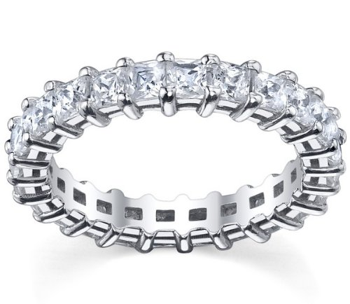 18k White Gold Princess Cut Diamond Eternity