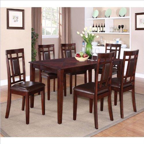 Popular Standard Furniture Westlake Dining Table Set in Golden Brown