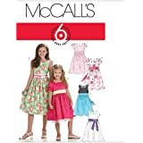 McCall's Patterns M6020 Children's/Girls' Lined Dresses, Size CHJ (7-8-10-12-14)