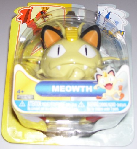Buy Low Price Jakks Pacific Pokemon Heartgold & Soulsilver Johto Basic Action Figure Meowth (B004GZF28K)