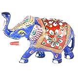 Rajgharana Handicrafts Multi Color Metal Meenakari Delightful Elephant - (4 Cm X 7 Cm)