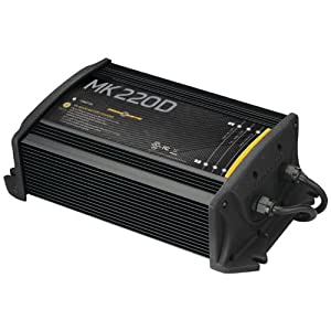 MinnKota MK 220D On-Board Battery Charger (2 Banks, 10 Amps Per Bank) by Minn Kota