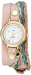 La Mer Collections Women's LMDEL1005 Sydney Analog Display Quartz Champagne Watch