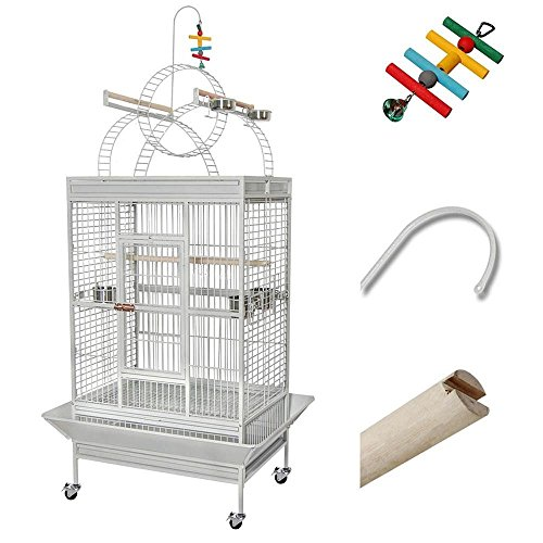 Large Parrot Bird PlayTop Stand Finch Cage Macaws Aviary Pet Supply w/ Free Toy (Shoe Trees Extra Large compare prices)