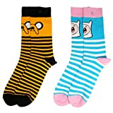 Officially Licensed Ladies Adventure Time Character Theme Assorted Socks 2 Pack