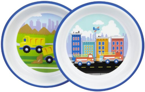Playtex Mealtime Plate - Boy - 2 ct - 1
