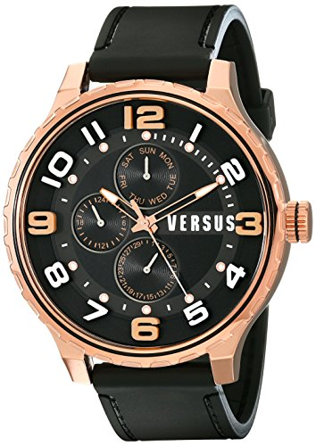 Versus - SBA04 0014 - Montre Homme - Quartz - Analogique - Bracelet Polyuréthane Noir