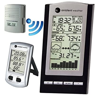Ambient Weather WS-COMBO1 Advanced Weather Station Combo with Temperature, Humidity with Calibration and Barometer by Ambient Weather