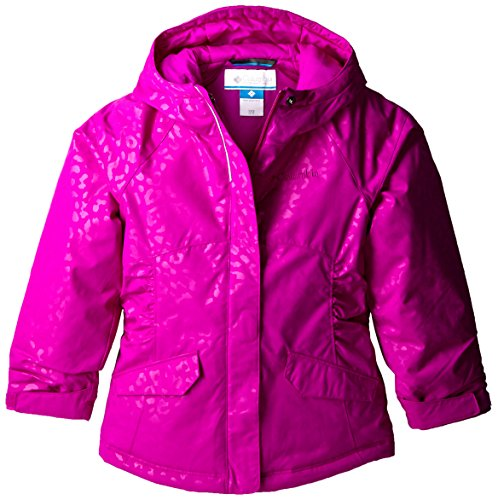 Columbia Little Girls' Razzmadazzle Jacket, Bright Plum Emboss, XX-Small