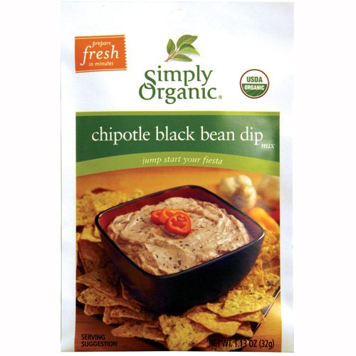 Simply Organic Organic Dip Mixes Chipotle Black Bean Dip Mix Certified Organic 1 13 Ounce Packet Pack of 12