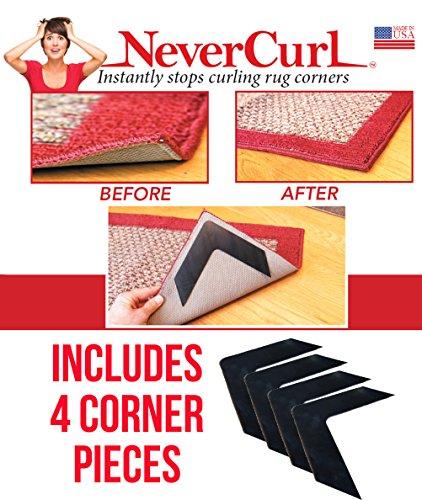 instantly stop rug corner curling pad safe wood carpet mat floor surface indoor ebay. Black Bedroom Furniture Sets. Home Design Ideas