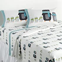 Home Classics Twin Size Heavyweight 5 oz (170-gram) 3 Piece Flannel Sheet Set with Deep Pockets Penguins
