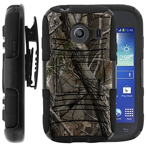 Samsung Galaxy Ace Style Case, Samsung Galaxy Ace Style Holster, Two Layer Hybrid Armor Hard Cover with Built in Kickstand for Samsung Galaxy Ace Style S765C SM-G310 from MINITURTLE | Includes Screen Protector - Nature's Camouflage (Galaxy Ace Kickstand Cases compare prices)
