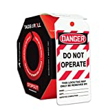 Accuform Signs TAR404 Tags By-The-Roll Lockout Tags, Legend