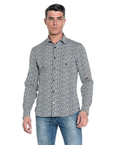 Love Moschino Camicia Uomo [Nero/Bianco]