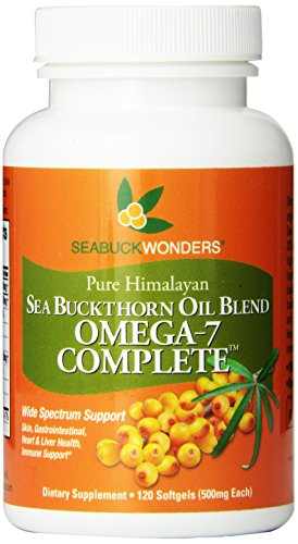 Sea Buckthorn Oil Blend, Omega-7 Complete, 120-Softgels