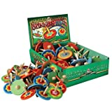 House Of Marbles Colourful Wooden Spinning Top - Set Of 6