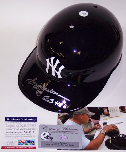 Reggie Jackson Autographed Hand Signed New York Yankees Authentic Batting Helmet - PSA/DNA - Autographed MLB Helmets and Hats